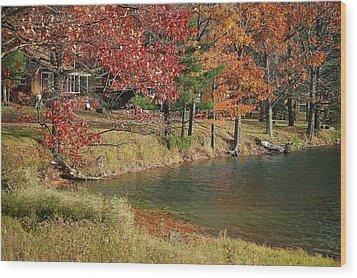 Lakeside View Wood Print