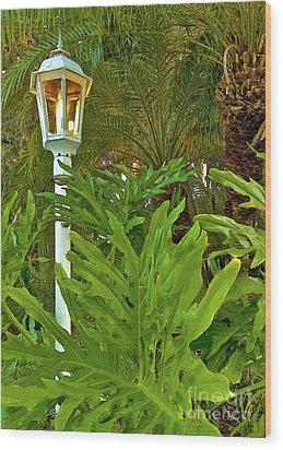 Lampleaves Wood Print