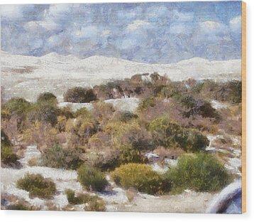 Wood Print featuring the digital art Lancelin White Sands  by Roberto Gagliardi