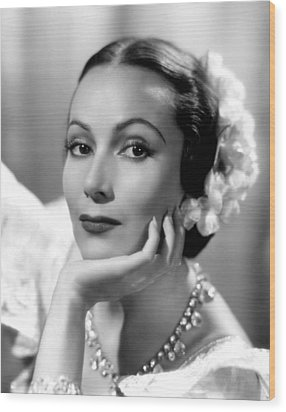 Lancer Spy, Dolores Del Rio, 1937 Wood Print by Everett
