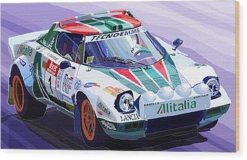 Lancia Stratos Alitalia Rally Catalonya Costa Brava 2008 Wood Print by Yuriy  Shevchuk