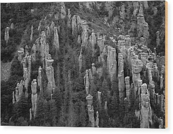 Wood Print featuring the photograph Land Of Standing Up Rock  by Vicki Pelham