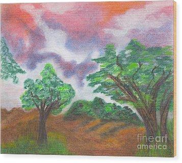 Landscape 1 Wood Print