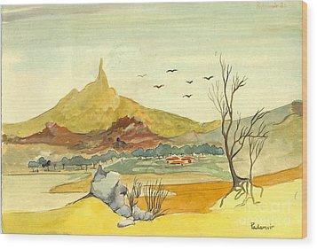 Landscape 4 Wood Print by Padamvir Singh