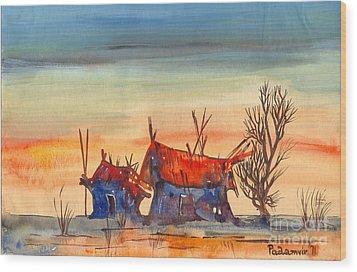 Landscape 5 Wood Print