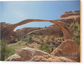 Landscape Arch Wood Print by Cassie Marie Photography