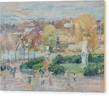 Landscape In Tours Wood Print by Berthe Morisot