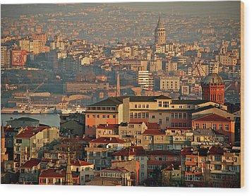 Landscape, Istanbul Wood Print by Photo by Bernardo Ricci Armani