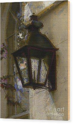Lantern 11 Wood Print by Donna Bentley