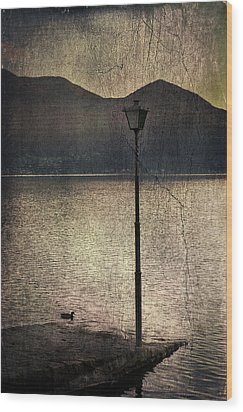 Lantern At The Lake Wood Print by Joana Kruse