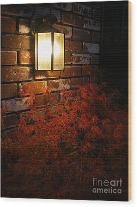 Lantern Light Maple Wood Print