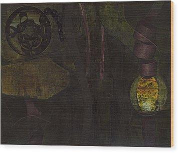Lantern Twist Wood Print by Alexandra Sheldon