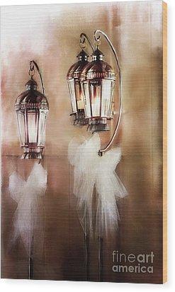 Lanterns Wood Print by Stephanie Frey