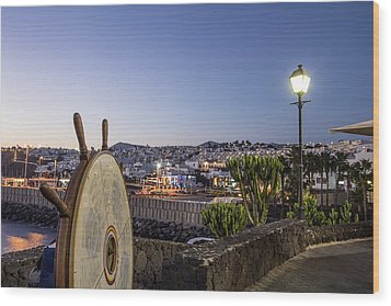 Lanzarote , Canary Islands, Spain Wood Print by Travelstock44 - Juergen Held