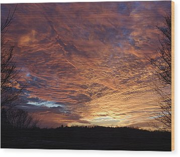 Wood Print featuring the painting Lascassas Sunset Five by Carol Berning