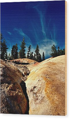 Wood Print featuring the photograph Lassen Volcanic National Park by Peter Mooyman