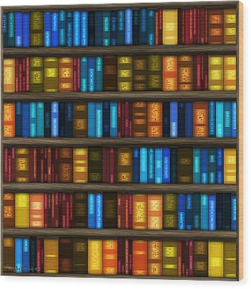 Last Bookseller's Life Story. Wood Print by Tautvydas Davainis