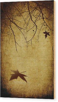Last Breath Of Autumn Wood Print by Svetlana Sewell