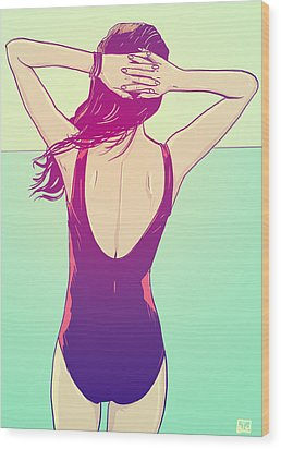 Last Days Of Summers Wood Print by Giuseppe Cristiano