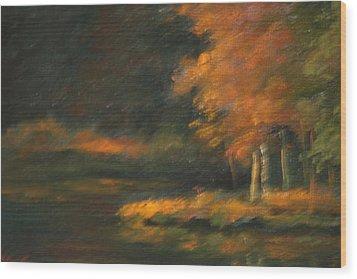 Last Light Wood Print by Linda Eades Blackburn