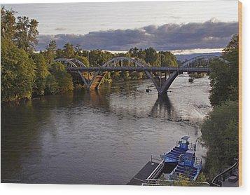 Last Light On Caveman Bridge Wood Print by Mick Anderson