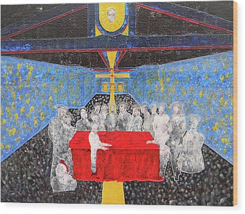 Last Supper The Reunion Wood Print by Marwan George Khoury