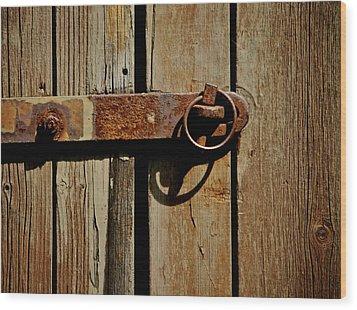 Latch Wood Print by Odd Jeppesen