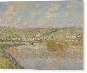 Late Afternoon - Vetheuil Wood Print by Claude Monet