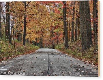 Wood Print featuring the photograph Late Autumn Embrace by Rachel Cohen