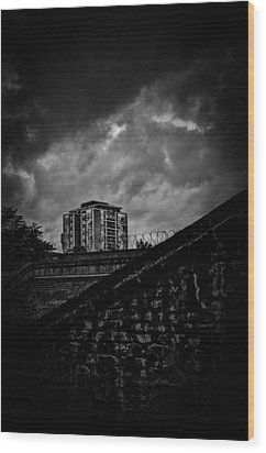 Late Night Brixton Skyline Wood Print by Lenny Carter