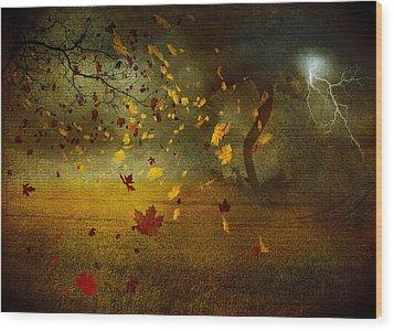 Late October Wood Print by Svetlana Sewell