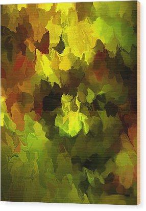 Late Summer Nature Abstract Wood Print by David Lane