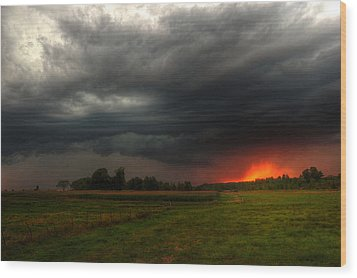 Late Summer Storm Wood Print