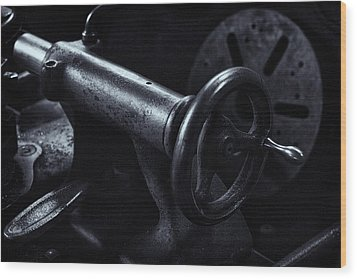 Wood Print featuring the photograph Lathe Handle by Tom Singleton