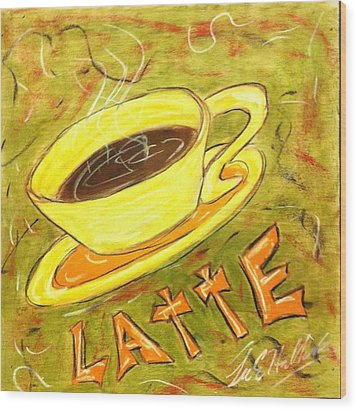 Latte Wood Print by Lee Halbrook