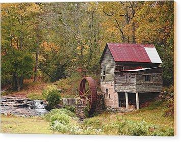 Laudermilk Mill Wood Print by Rick Mann