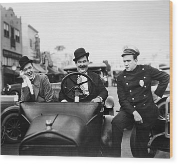 Laurel And Hardy, 1928 Wood Print by Granger