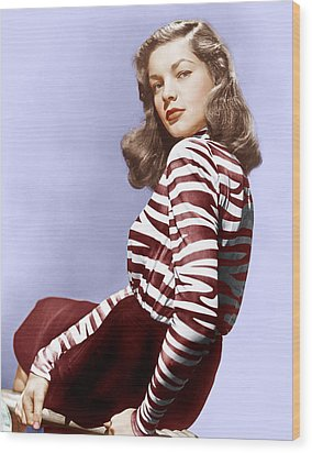 Lauren Bacall, Ca. 1944 Wood Print by Everett