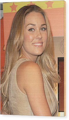 Lauren Conrad At A Public Appearance Wood Print by Everett