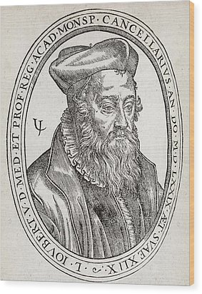Laurent Joubert, French Physician Wood Print by Middle Temple Library