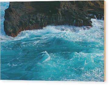 Lava Pools Hawaii-1 Wood Print