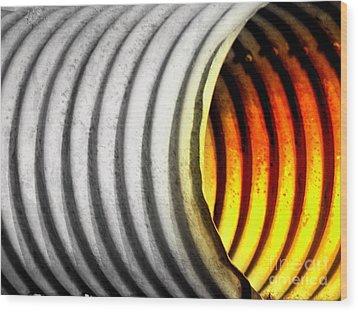 Lava Tube Wood Print by Joe Jake Pratt