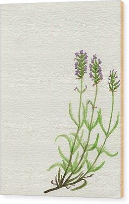 Lavender Wood Print by Annemeet Hasidi- van der Leij