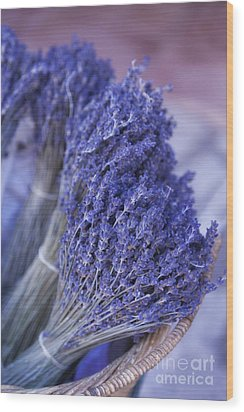 Lavender Bunches In Provence Wood Print by Paul Grand