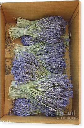 Wood Print featuring the photograph Lavender Bundles by Lainie Wrightson