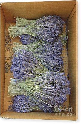Lavender Bundles Wood Print by Lainie Wrightson