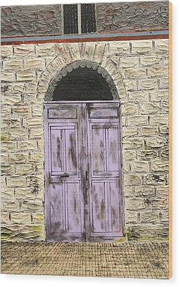 Lavender Door-france Wood Print