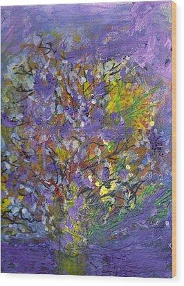 Lavender Memories Wood Print by Anne-Elizabeth Whiteway