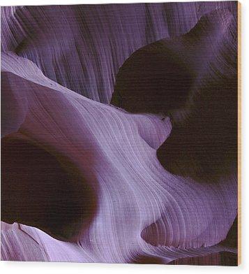 Lavender Woman Wood Print