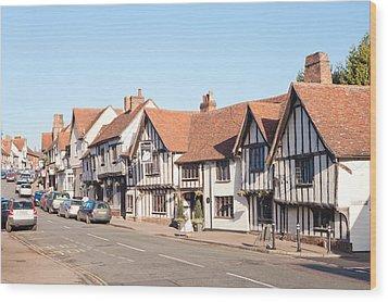 Lavenham High Street Wood Print by Tom Gowanlock